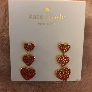 Kate Spade - Yours Truly , Pave Hearts Earrings